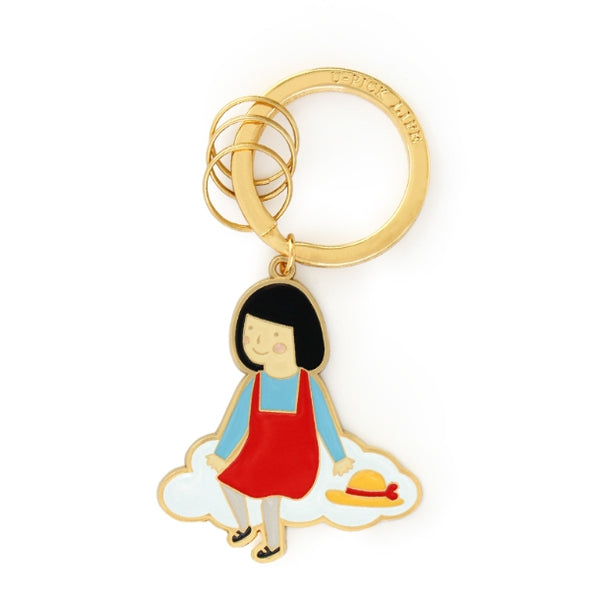 Girl Key Chain By U-Pick Girl On Cloud
