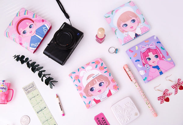 [Pre-Order] Dolly Girl [Blue Peach] Mini Wallet By Milkjoy