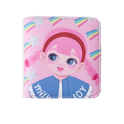 Dolly Girl [Pink Rainbow] Mini PU Leather Wallet By Milkjoy