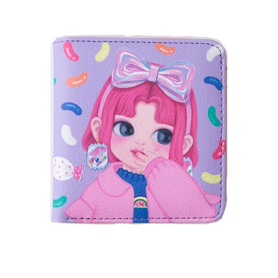 [Pre-Order] Dolly Girl [Purple Candy] Mini Wallet By Milkjoy