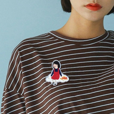 Girl On Cloud Girl Brooch S2 By U-Pick