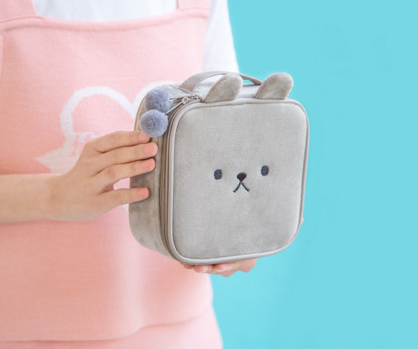 Animal Grey Square Pouch By Bentoy