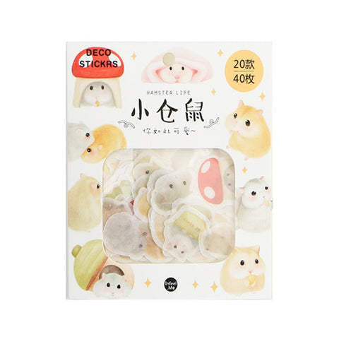 Animal Hamster Deco Stickers Pack