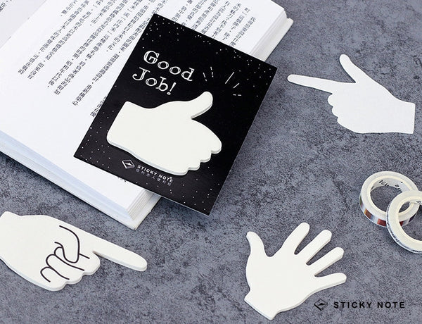 Hand Sign Sticky Notes