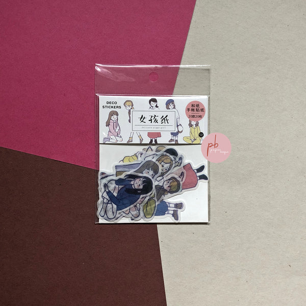 Harajuku Paper Girl Sticker Pack