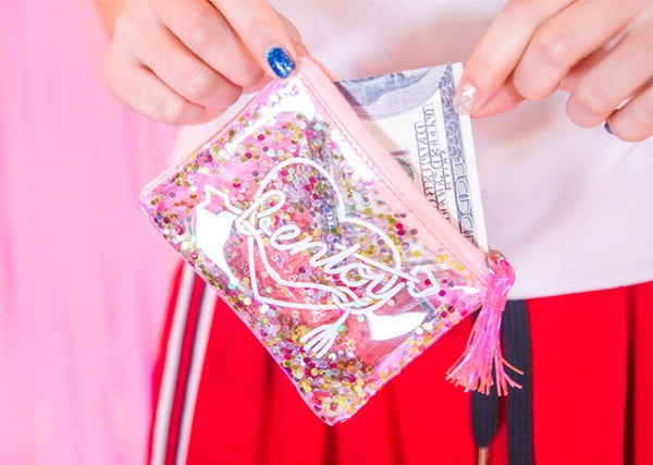 Sequins Transparent Pouch By Bentoy