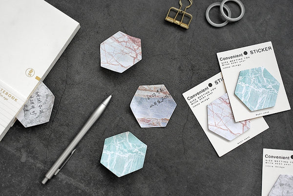 Hexagon [Mint] Sticky Notes