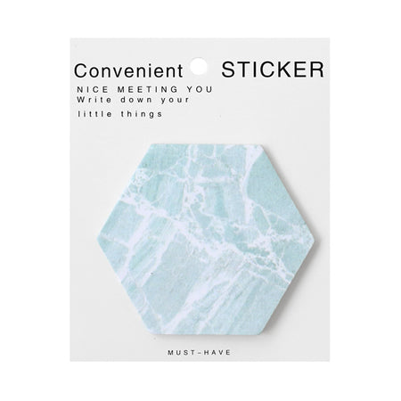 Hexagon Mint Sticky Notes