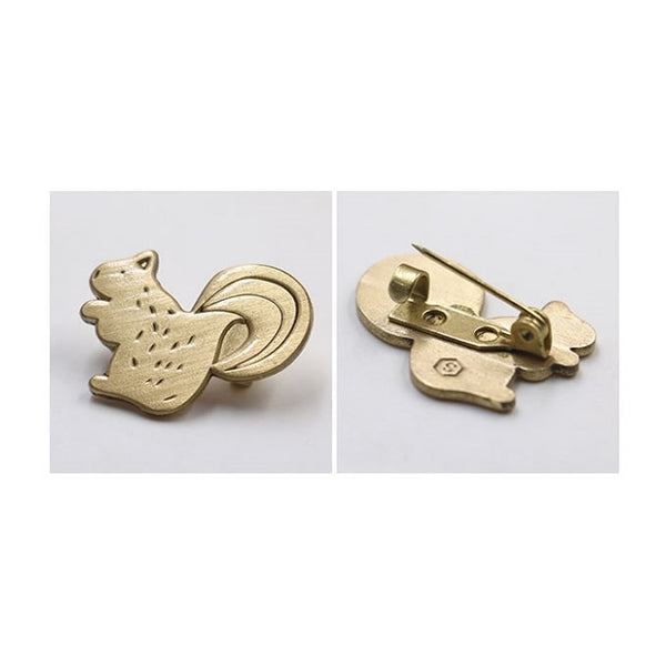 Hey Jude [Cat] Brass Pin By U-Pick X Somehow