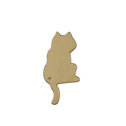 Hey Jude Cat Brass Pin By U-Pick X Somehow