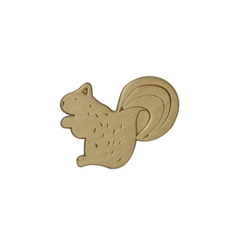 Hey Jude Squirrel Brass Pin By U-Pick X Somehow