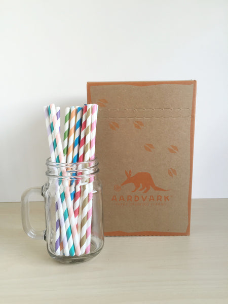 Striped Paper Straws Singapore