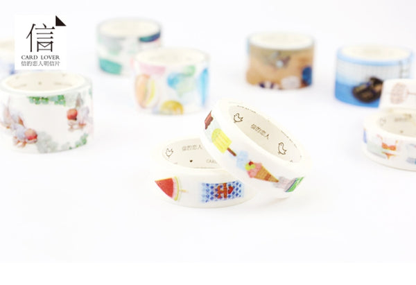 Summer Cold Drinks Washi Tape