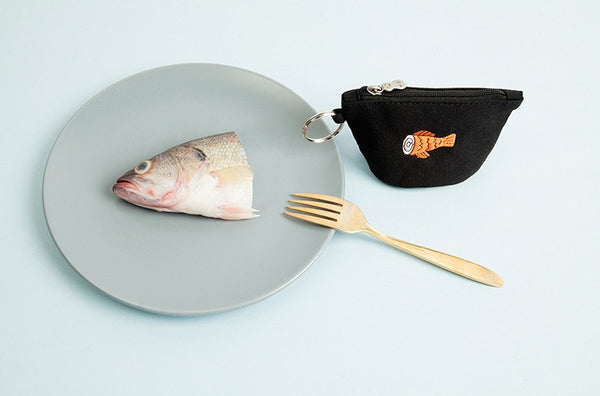 Half Fish Coin Pouch By YIZI