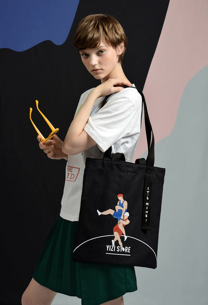 Wrestling It's Mine Tote Bag By YIZI