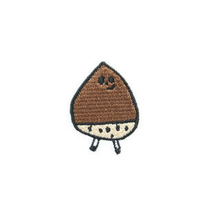 Stitch Chestnut Brooch by Jam Jam