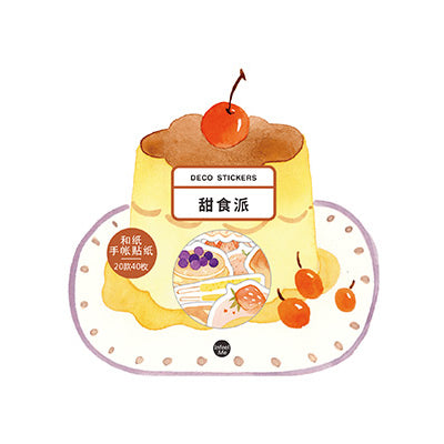 Japanese Dessert Caramel Pudding Stickers Pack