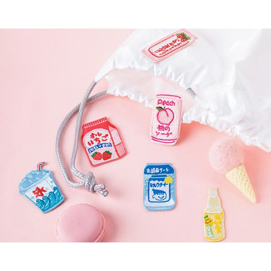Japanese Drink [Calpis] Embroidered Sticker Patch