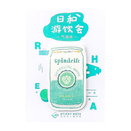 Japanese Drink Spindrift Sparkling Water Sticky Notes
