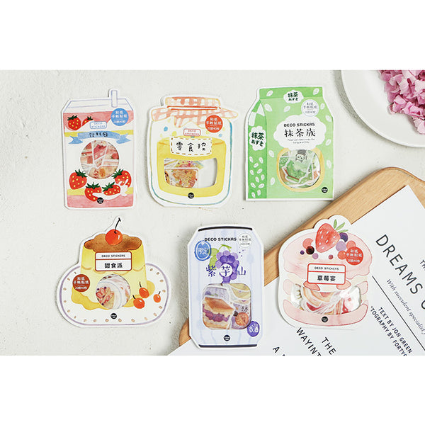 Japanese Dessert [Caramel Pudding] Stickers Pack