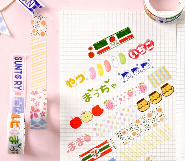 Japanese Snacks [Road Trip] Washi Tape