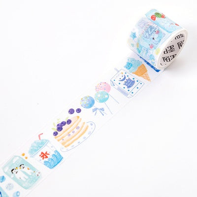Japanese Snacks Blueberry Washi Tape