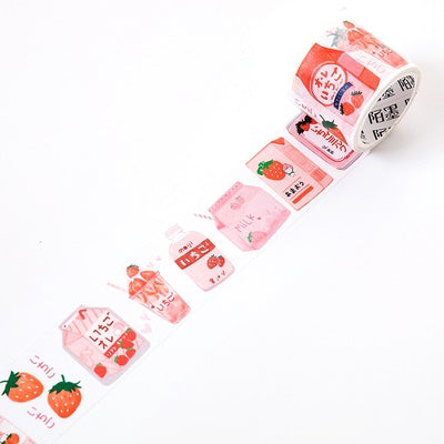 Japanese Snacks Strawberry Milk Washi Tape