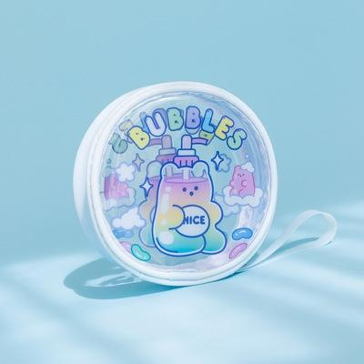 Jelly Bean Bear Bubbles Round Pouch By Milkjoy