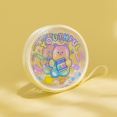 Jelly Bean Bear Youthful Round Pouch By Milkjoy