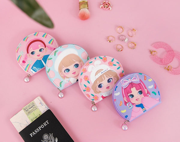 [Pre-Order] Dolly Girl [Blue Peach] Jewellery Travel Case By Milkjoy