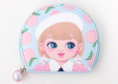 Dolly Girl Blue Peach Jewellery Travel Case By Milkjoy