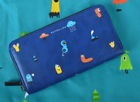 Long Tiny Monsters Wallet by Kiitos Life