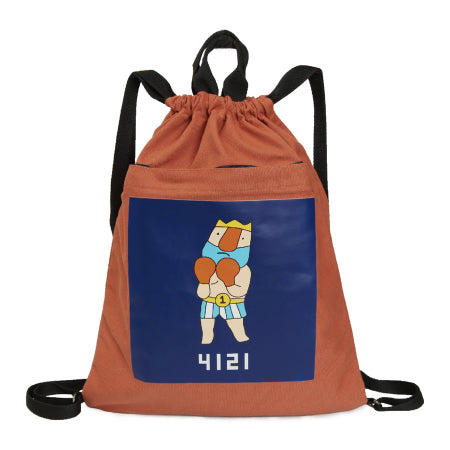 Boxing King Drawstring Backpack By YIZI
