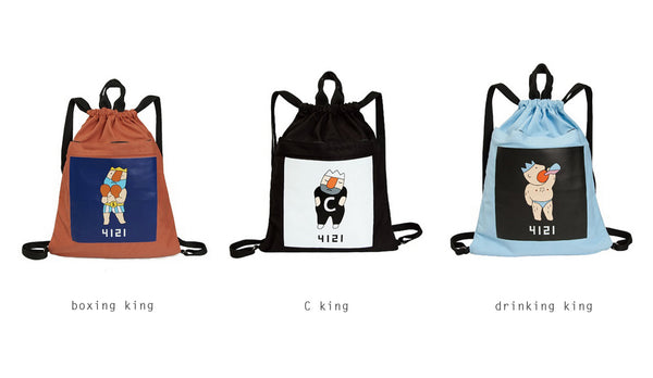 King Drawstring Backpack By YIZI