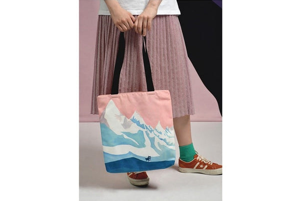 Landscape [Snow Mountain] Tote Bag By YIZI STORE