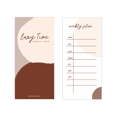 Lazy Time Weekly Plan Notepad