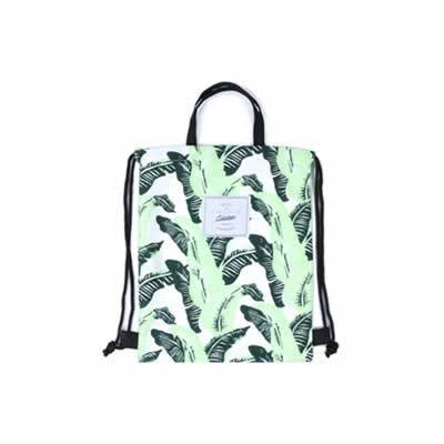Leaves Banana Leaves Drawstring Backpack By Colourup