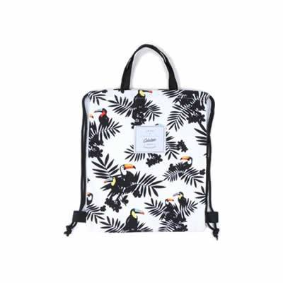 Leaves Toucan Drawstring Backpack By Colourup