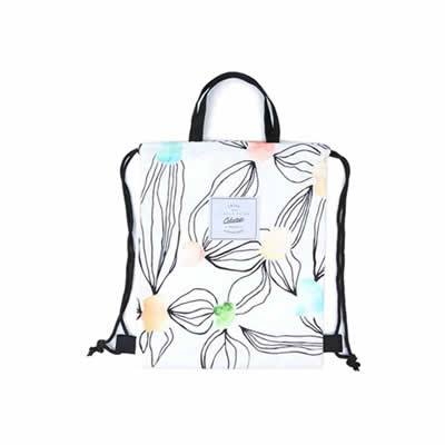 Leaves Watercolour Leaves Drawstring Backpack By Colourup