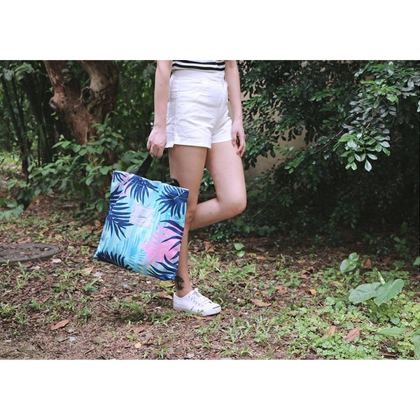 Plants [Blue Leaves] Tote Bag By Colourup