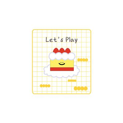 Let's Play Cake Embroidered Sticker Patch