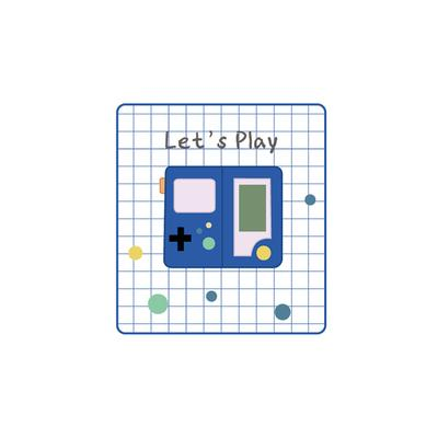 Let's Play Game Machine Embroidered Sticker Patch