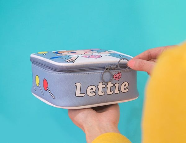Girl Lettie Square Travel Pouch By Bentoy