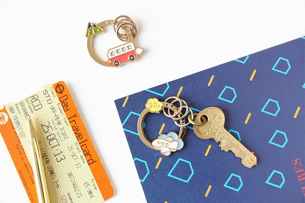Life Is A Journey Key Chain By U-Pick Mountain Bus Go Airplane