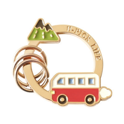 Life Is A Journey Key Chain By U-Pick Mountain Bus