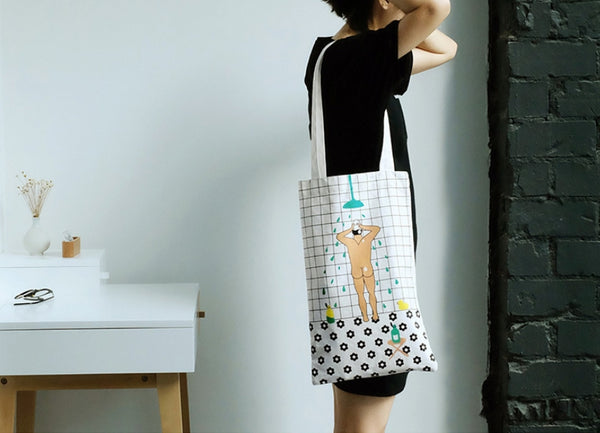 Life in the Room Shower Tote Bag By YIZI STORE