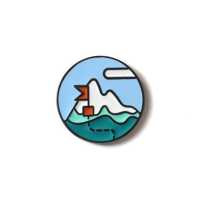 Life Is A Journey Pin Snow Mountain By U-Pick