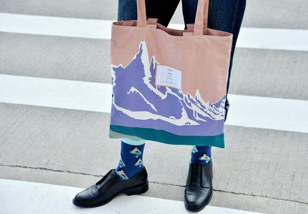 Lifestyle [Snow Mountain] Tote Bag by YIZI STORE