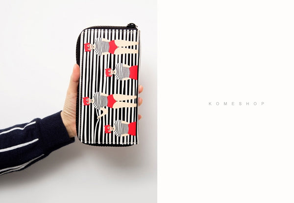 Lily & Lucy [Striped Blinds] Long Wallet By YIZI STORE X KOMESHOP