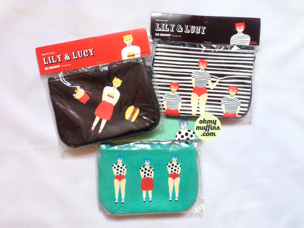 Lily & Lucy [Striped Blinds] Pouch By YIZI STORE X KOMESHOP